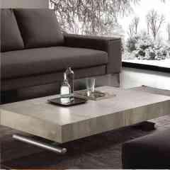 Table basse relevable et extensible - Table basse réglable au millimètre en hauteur avec rallonges intégrées