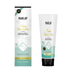 Crème Bio réparatrice Marlay pour les mains et les pieds - Crème au karité Bio et huiles essentielles bio pour hydrater et raffraichir mains et des pieds