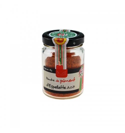 POUDRE DE PIMENT D'ESPELETTE - Le piment d'Espelette, épice emblématique du Pays-Basque, exhausteur de goût par excellence, ajoutera une touche rafinée et légèrement relevée à vos préparations culinaires !