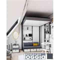 LIT ESCAMOTABLE - Optimisez votre espace, gagnez de la place avec la gamme de produit des lits escamotables Espace Loggia. Made in France.