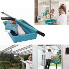 Lave-vitre - <p>La marque Speedcleaner est une marque de lave-vitres manuels.</p> <p>Plusieurs modèles sont disponibles pour s'adapter à tous les besoins.</p> <p>Vos vitres propres, comme au premier jour. Même en plein soleil !</p> <p>L'appareil nettoie, racle et sèche en un seul passage.</p> <p>Avec sa mousse microfibre, vos vitres seront étincelantes et sans traces.</p> <p>En fonction du modèle, vous pourrez l'utiliser avec ou sans manche télescopique.</p> <p>Parce qu'on n'a jamais rien fait de mieux pour faire briller les verres, le système Speedcleaner utilise exclusivement du liquide vaisselle pour faire étinceler vitres, miroirs, vérandas…sans laisser de traces !</p> <p>Comment ? Grâce à son éponge en microfibre qui n'utilise que la mousse, c'est-à-dire là où se concentrent les agents actifs du produit.</p> <p>Associé au pouvoir nettoyant de la microfibre, le résultat est impeccable !</p> <p>Cet appareil nettoie et sèche en un seul passage !</p>
