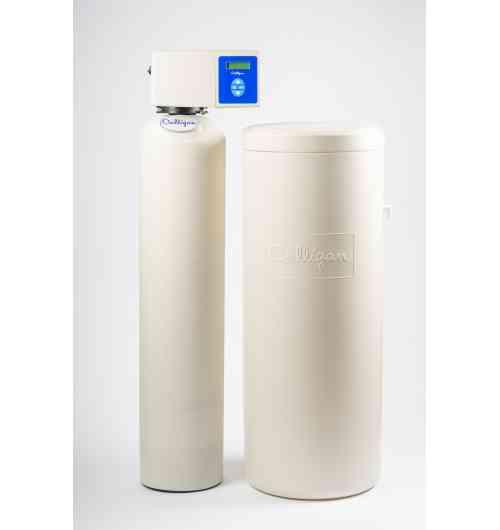 """Culligan Modernity - Avec sa technologie innovante et son très haut rendement, le Modernity est un adoucisseur high-tech, équipé d'une technologie de pointe grâce à sa vanne 6 pistons. Le Modernity est un adoucisseur bi-bloc, avec son bac à sel séparé. Il est particulièrement adapté aux maisons ayant une arrivée d'eau avec faible pression. De plus, il analyse en permanence votre consommation d'eau, ce qui lui permet d'optimiser votre consommation de sel. L'adoucisseur d'eau Modernity distribue une eau adoucie pour votre famille, 24h/24, 7 jours/7."""""""