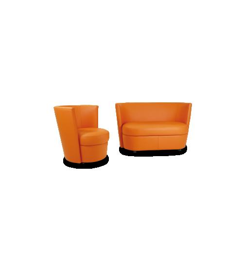CANAPE ET FAUTEUIL DISCO - <p>Fauteuil pivotant&nbsp;de discussion ou de&nbsp;confort, son design autorise les couleurs vives&nbsp;pour animer votre int&eacute;rieur.<br />Coordonn&eacute; au&nbsp;Negresco, c&rsquo;est le plus&nbsp;petit fauteuil&nbsp;de la collection.</p>