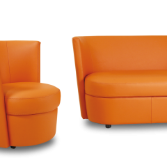 DISCO - <p>Fauteuil pivotantde discussion ou deconfort, son design autorise lescouleurs vivespour animer votre intérieur.<br />C'est le pluspetit fauteuilde la collection.</p>