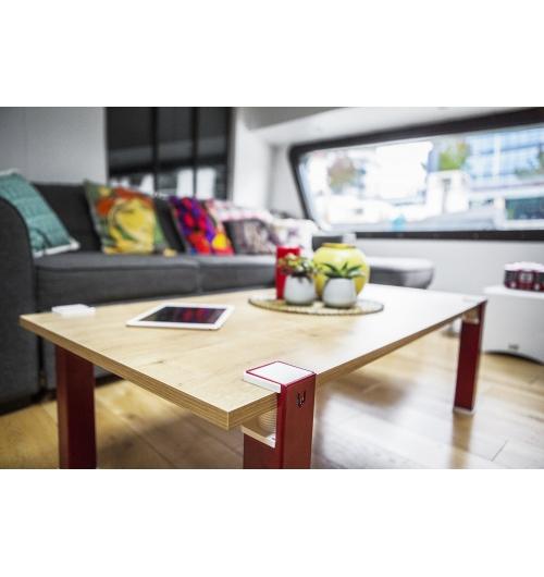 Table basse Uzy - Table basse Uzy avec plateau stratifié 19mm