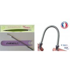FARMELL® PRO - Farmell est une méthode d'épilation naturelle inspirée de l'épilation au fil qui vous permettra d'obtenir un résultat professionnel. Farmell fonctionne sans piles et sans électricité et a une durée de vie illimitée dans des conditions d'utilisations normales.C'est une méthode naturelle et écologique. Le ressort épilatoire est hypoallergénique.