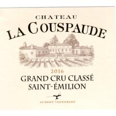CHATEAU LA COUSPAUDE 2016 - AOC SAINT EMILION GRAND CRU CLASSE
