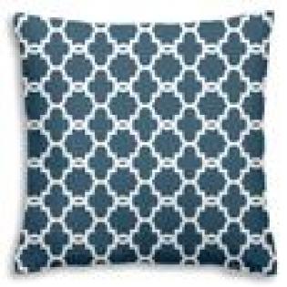 Coussin - <p>Coussin de style scandinave, bleu prusse et blanc</p> <p>Dimensions :40x40 cm</p>