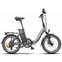 Vélo Electrique Ovelo CityBas - Le meilleur rapport qualité/prix du vélo électrique pliant. Batterie 36V 9Ah, 11Ah, 13Ah ou 18Ah au choix. Ce modèle pliant vous offre un choix d'autonomie en fonction de votre utilisation, de l'utilisation occasionnel en 9Ah au confort idéal en 18Ah, choisissez l'autonomie adaptée à vos besoins. Pratique, pliable avec des finitions optimales, cet Ovelo vous offre une autonomie maximale de 40km à 135km suivant la batterie choisie. Ovelo vous recommande pour une utilisation confortable la batterie en 18Ah avec 135km d'autonomie. Son poids de seulement 17Kg (sans batterie) le rend facile à transporter. Facile à plier en 2 étapes, le tout en 15 secondes. Le vélo Ovelo City Bas est équipé du système d'assistance au démarrage à l'aide de sa commande de contrôle, d'un dérailleur Shimano Tourney 7 vitesses, d'un écran LCD Rétroéclairé ou Led (selon les versions), d'un fourche Zoom réglable, de freins à diques Tektro pour la version confort. Ovelo vous offre une garantie de 5 ans sur son cadre et de 2 ans sur les pièces détachées et partie électrique.