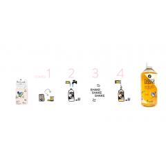 une jolie bouteille réutilisable + Kit ma fabvuleuse lessive maison - Chez Pimpant, nous avons choisi les meilleurs ingrédients pour constituer notre recette : efficaces, responsables et agréables d'utilisation. Nous avons mis le moins d'eau possible dans notre kit, parce que c'est lourd et polluant à transporter, alors que tout le monde en a chez soi. Lancez vous et réalisez chez vous tranquillement dans votre jolie bouteille réutilisable 1 litre d'une fabuleuse lessive soit 25 lavages. Cette bouteille est recyclable mais elle peut aussi faire des milliers de lavages donc nous l'avons fait jolie pour que vous soyez fiers à chaque fois de rendre le monde plus propre.