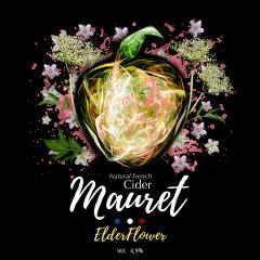 Mauret Elderflower - Mauret Elderflower est un délcieux mélange entre notre Cider Mauret et le sirop Monin à la fleur de sureau (c'est un sirop français naturel). Il est toujours 100% naturel et sans sucre ajouté, à 4,9° d'alcool. Rafraîchissant et légèrement sucré en bouche, c'est un cocktail idéal pour les soirées estivales.