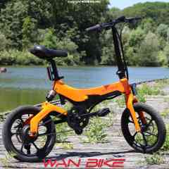 EMY S26 Orange Sunset - Vélo Électrique Urbain Pliant Haut de Gamme