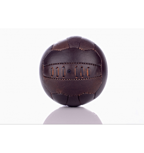BALLON DE FOOTBALL VINTAGE - EN CUIR COUSU MAIN