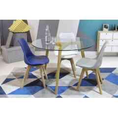 Table à manger ronde en verre - VENISE - Vous recherchez une table à manger au style scandinave avec des lignes belles et épurées ? Optez pour la collection VENISE ! Vous retrouverez toute une collection de table à manger.