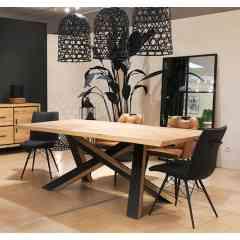 Collection QUEBEC - Chêne massif et métal.Des meubles chaleureux à l'esprit industriel, réalisables  dans différentes finitions. Fabricant Français.