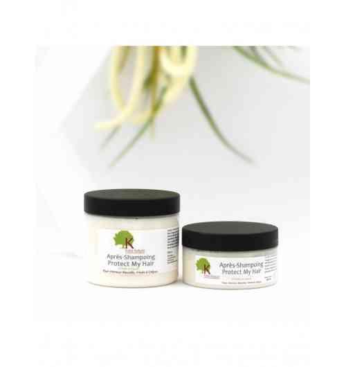 Après Shampoing PROTECT MY HAIR à la Sapote - <p>A base&nbsp;d'huile de sapote, ingr&eacute;dient indispensable de notre&nbsp;Apr&egrave;s-shampoing Protect My Hair&nbsp;dont voici les propri&eacute;t&eacute;s :</p> <p><br />- Connue pour stimuler la pousse des cheveux,</p> <p>- R&eacute;put&eacute;e pour ralentir la chute des cheveux,</p> <p>- Apaisante pour le cuir chevelu,</p> <p>- Nourrit et d&eacute;m&ecirc;le les cheveux fris&eacute;s...</p> <p>- Apporte brillance et toucher doux aux cheveux...</p> <p></p> <p>Existe en 2 formats 100ml et 200ml.</p>
