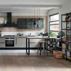 StartTime - <p>START-TIME: établir une approche efficace, en conférant à l'espace cuisine l'image jeune d'un design aux lignes pures, habillé de couleurs cool et avec des finitions bois s'inspirant des tendances qui prônent la naturalité.</p>