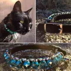 KFarah Kitty || Guetta - Collier Chat 100% fabrication main en perles de verre.