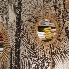 Miroirs - <p>Miroirs en osier tress&eacute;s</p>
