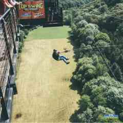 Saut pendulaire - Avis aux amateurs de sensations fortes, seul ou en duo, vivez cette expérience unique d'une chute libre au départ du pont de 61 mètres de haut puis une traversée de la vallée de la Souleuvre en mouvement de balancier.