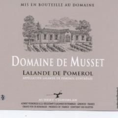 DOMAINE DE MUSSET - AOC LALANDE DE POMEROL