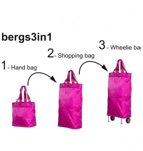 Bergs 3en1 - <p>bergs 3en1 voter sac elegant qui SE transform en sac plus grand a roulette.</p>