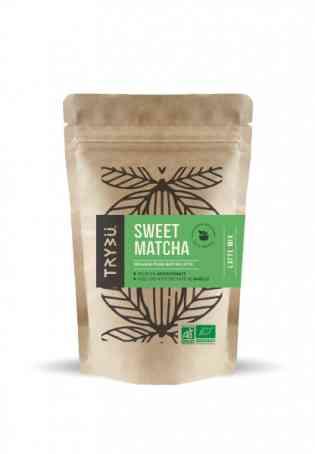 Sweet Latte Mix / Sweet Matcha - <p>Sweet Matcha est un mélange instantané en poudre déjà sucré pour préparer le Matcha Latte. 100% Bio et Vegan, Riche en antioxydants grâce au thé vert matcha et avec une délicate note de vanille, Sweet Matcha une boisson incontournable pour cet hiver.</p>