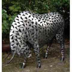 sculpture taureau - sculpture métal