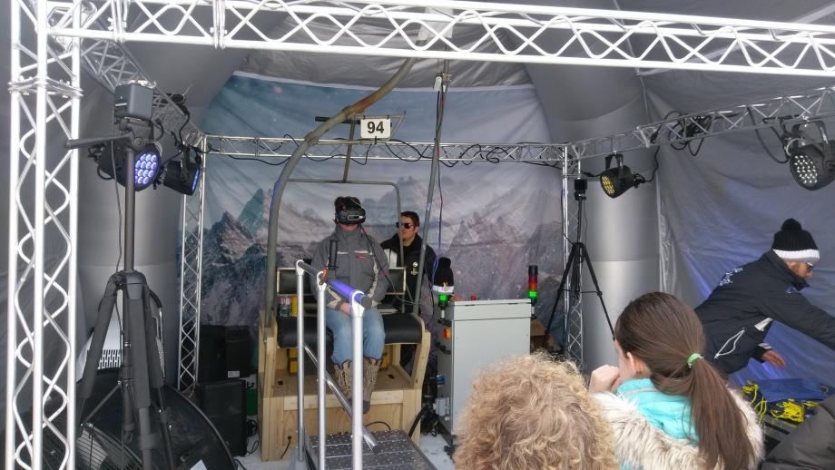 Foire de Paris - Réalité virtuelle - Télésiège ski