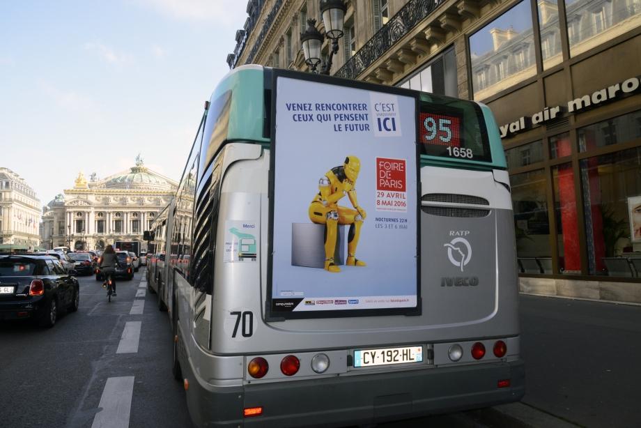 Affichage Foire de Paris 2016