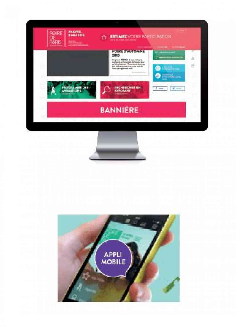 Exemple bannière site web foire de paris