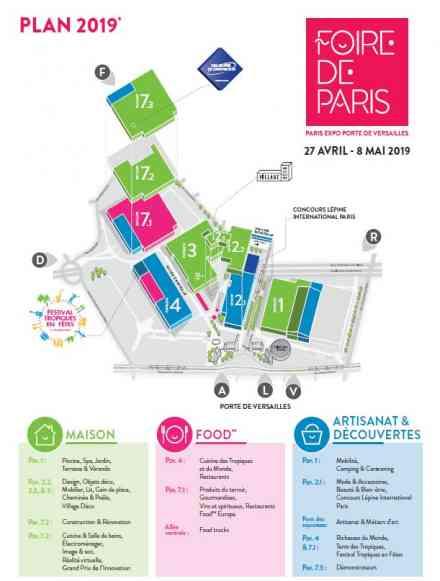 Plan de masse Foire de Paris 2019