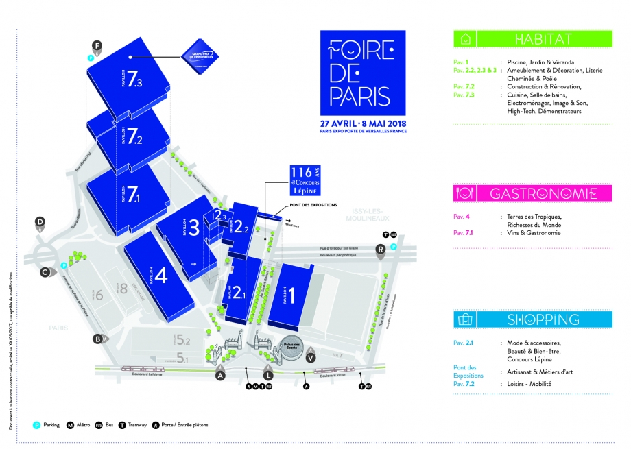 Plan Foire de Paris 2018 version 1