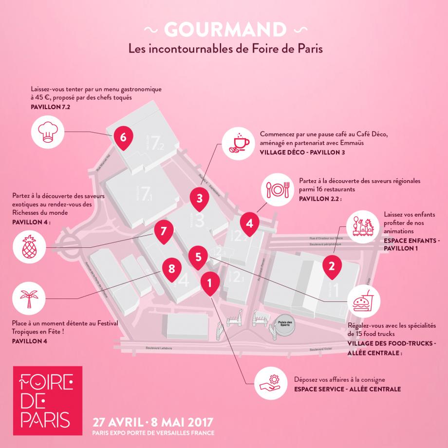parcours gourmand foire de paris 2017