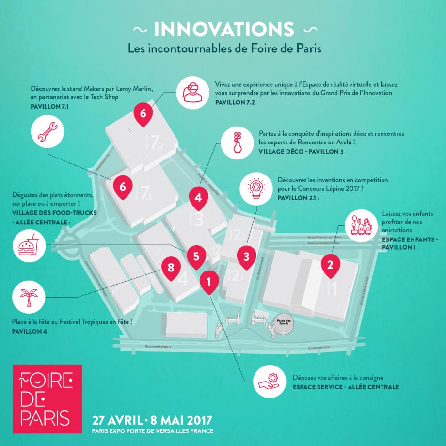 parcours innovations Foire de Paris