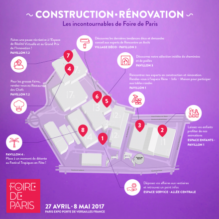 Foire de Paris - Plan - Construction renovation