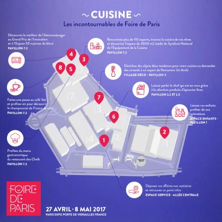 Foire de Paris - Plan - Cuisine