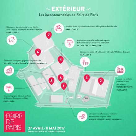 Foire de Paris - Plan - Extérieur