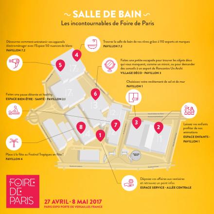 Foire de Paris - Plan - Salle de bain