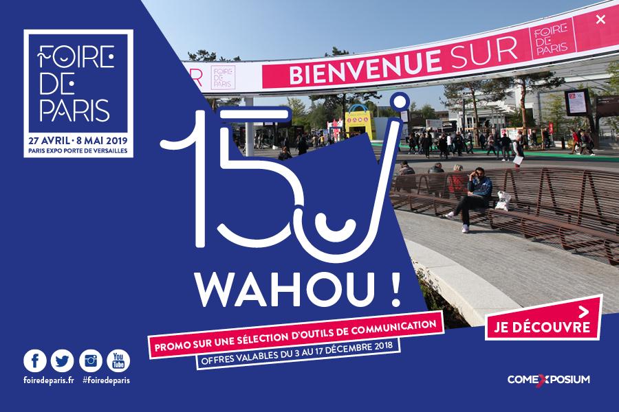 Outils de communication Foire de Paris 2019