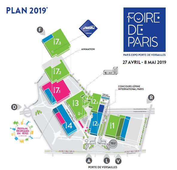 Plan Foire de Paris 2019 janvier