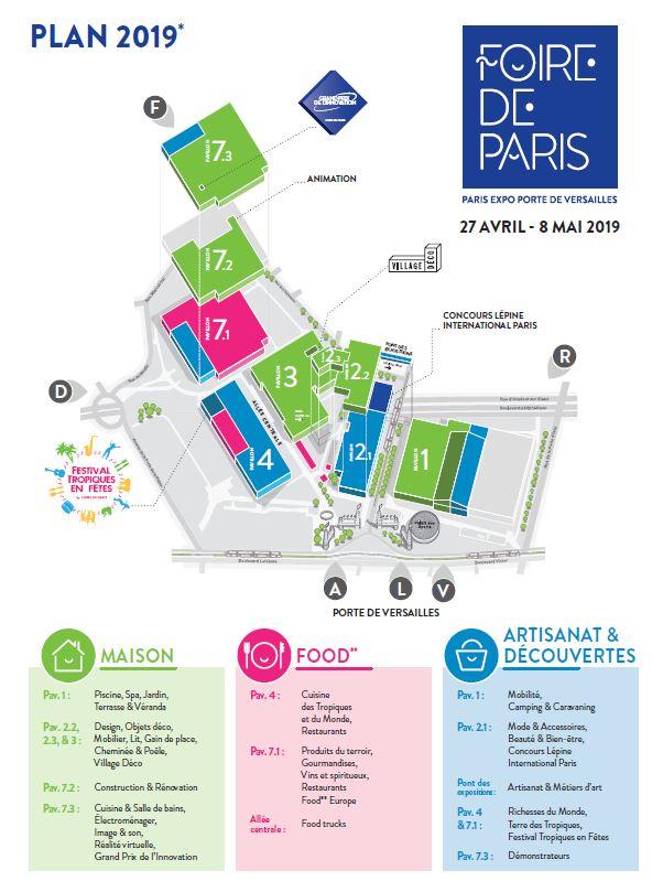plan Foire de Paris 2019