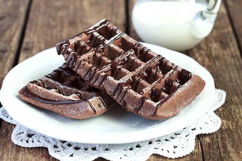gaufres façon brownies au chocolat