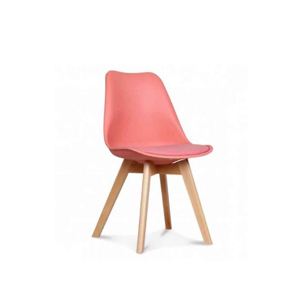 Chaise design scandinave loumi corail