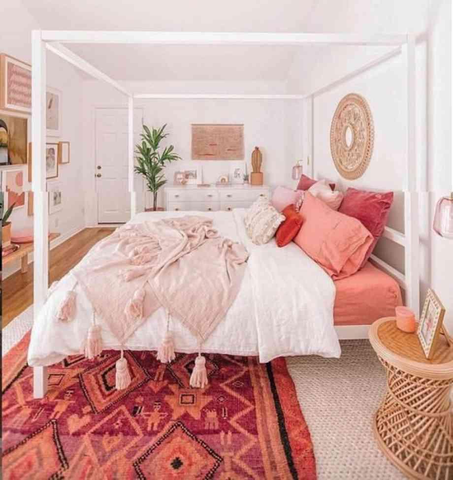 Chambre aux couleurs Living Coral