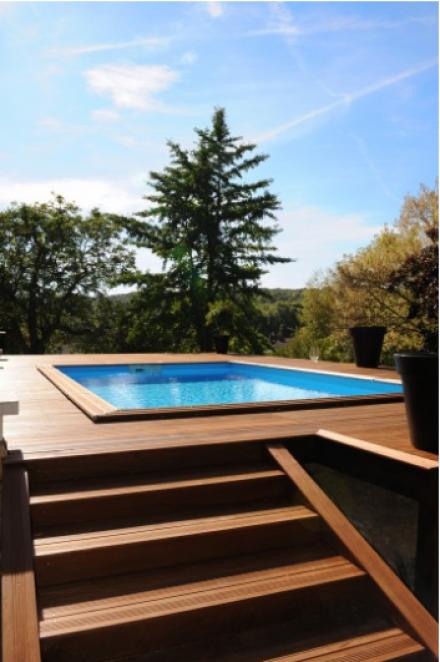 La piscine hors-sol de Piscinelle qui va bien !